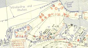 September 1944 defence overprint of Dunkirk, France.