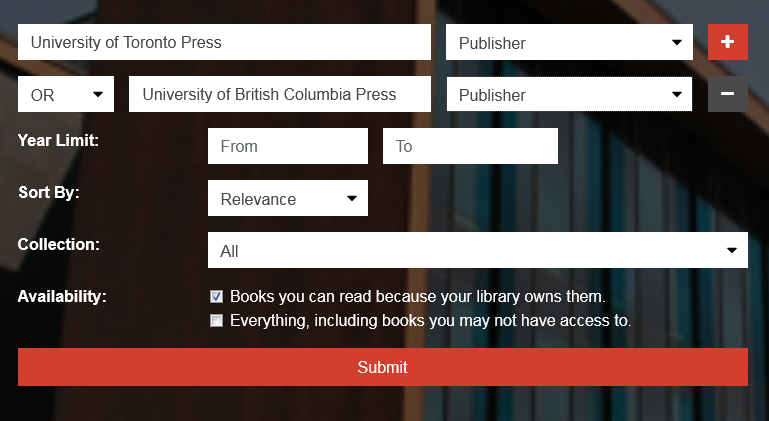 You can search by publisher by selecting Publisher in the search drop-down.
